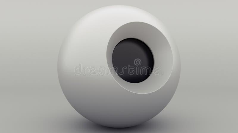 魔术8球灰色球形,任何目的了不起的设计 3d?? 灰色摘要 r   皇族释放例证
