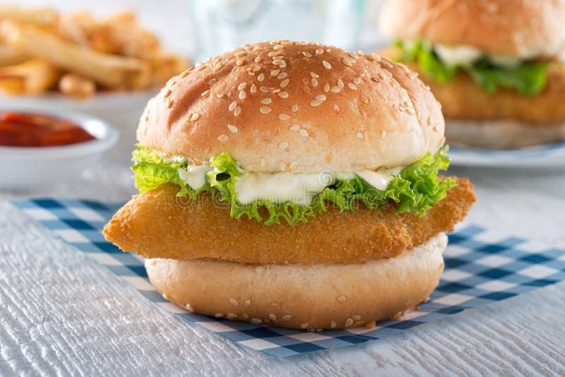 鱼三明治 图库摄影