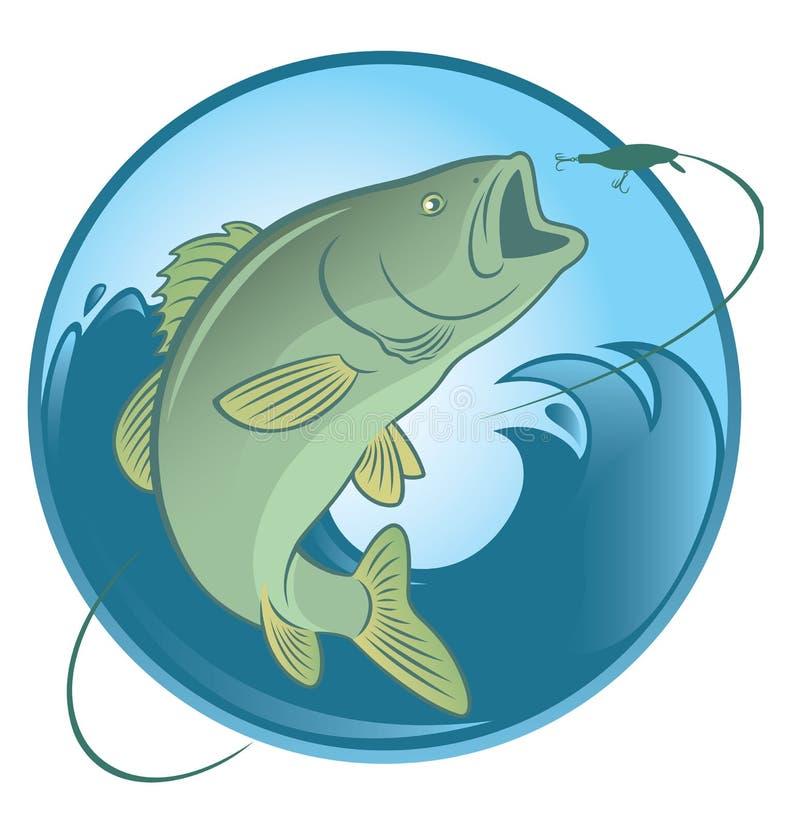 鱼低音 皇族释放例证