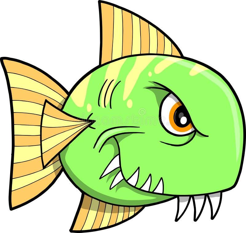 鱼例证平均值向量 库存例证