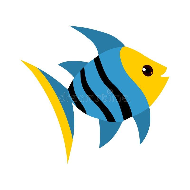 鱼动画片 库存例证