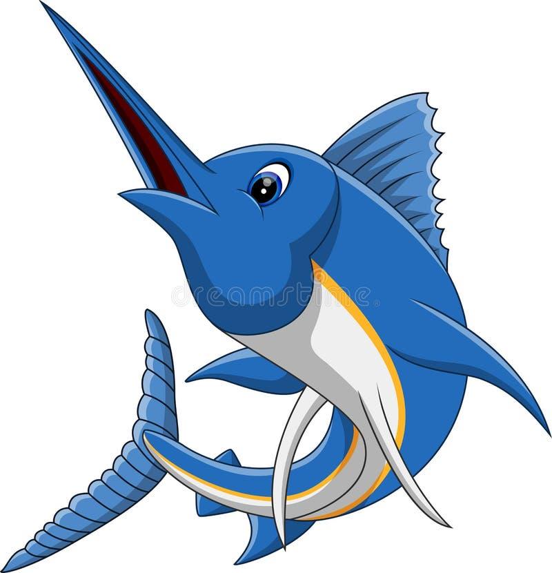 细索鱼动画片 库存例证