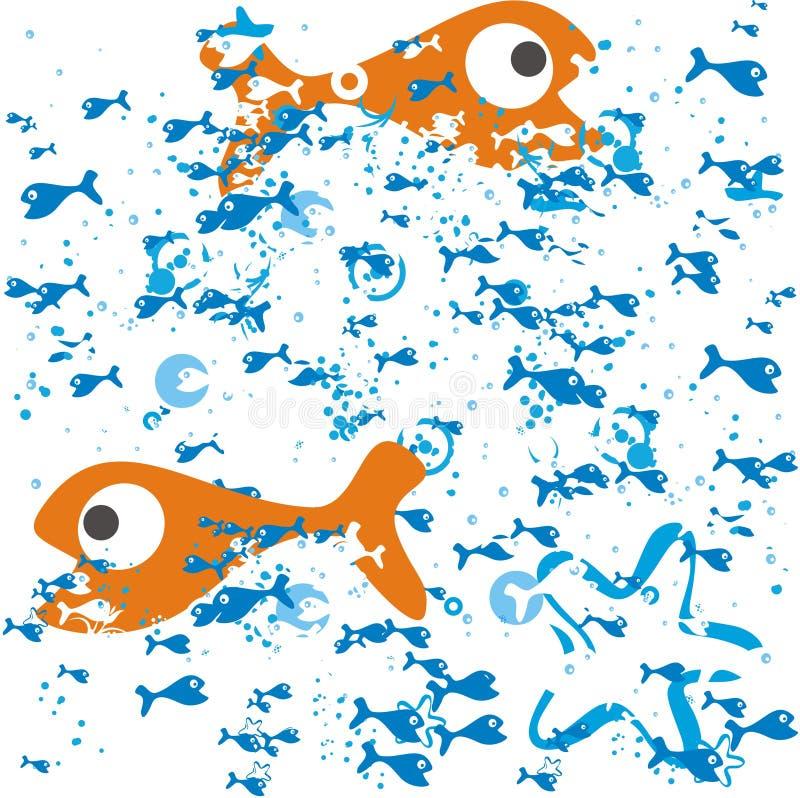鱼向量 皇族释放例证