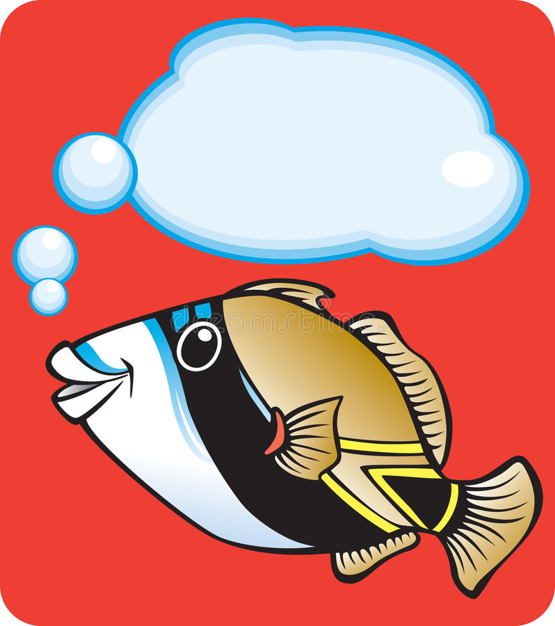 鱼夏威夷礁石s状态引金鱼 向量例证