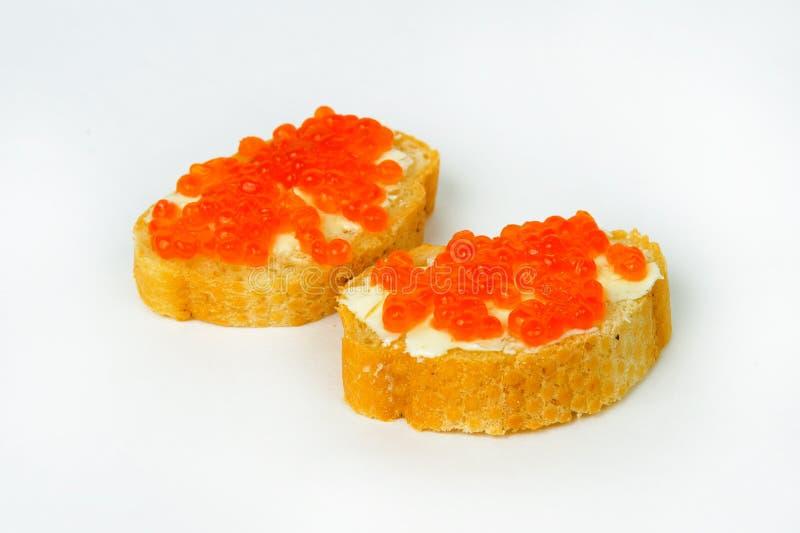 鱼子酱红色果子馅饼 库存图片