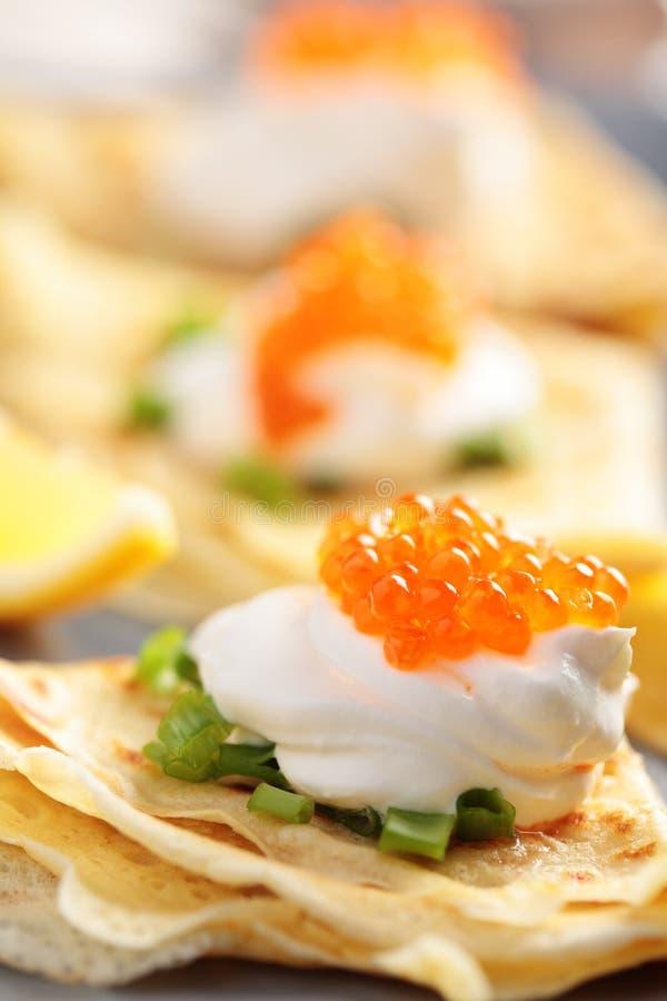 鱼子酱绉纱 图库摄影