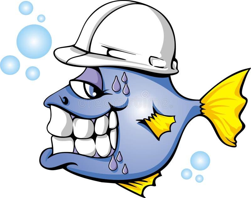 鱼安全性 库存例证