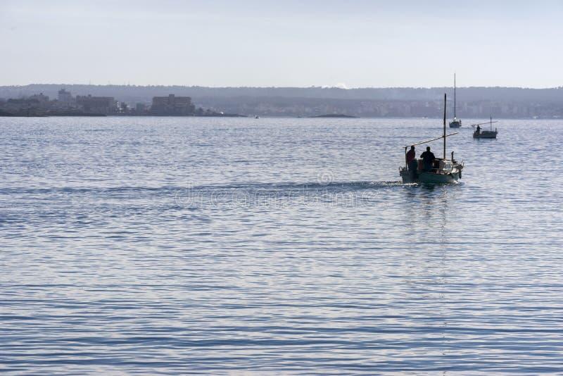 鱼小船 库存图片
