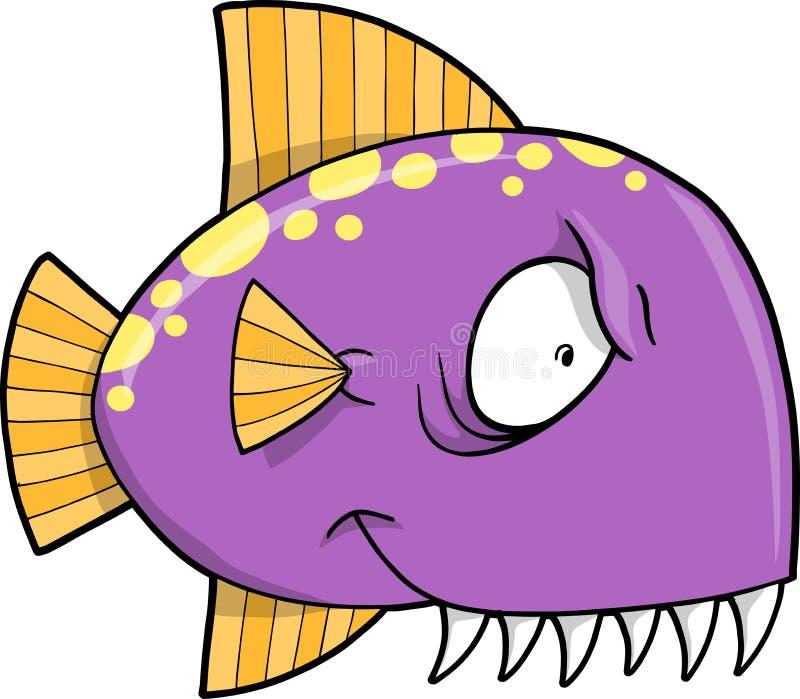 鱼平均鲨鱼向量 皇族释放例证