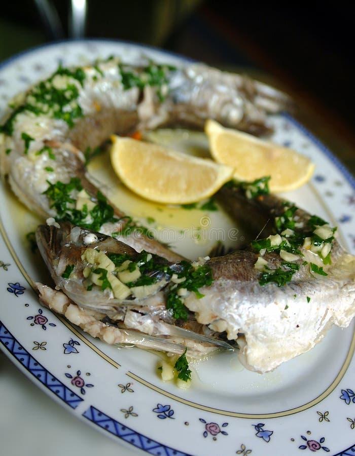 鱼新鲜的柠檬 免版税库存照片