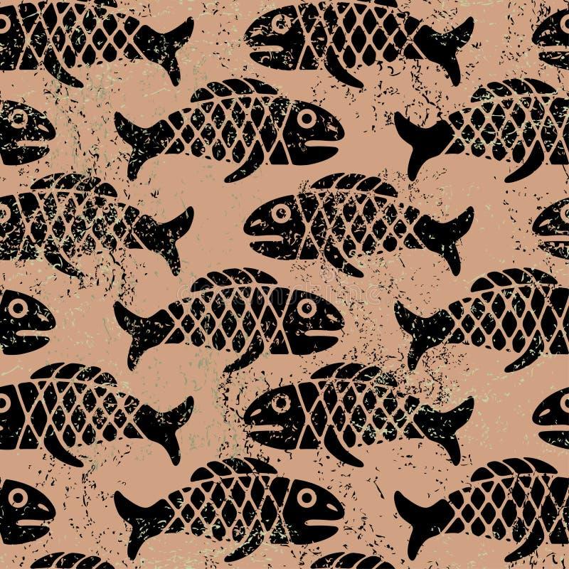 鱼模式 皇族释放例证