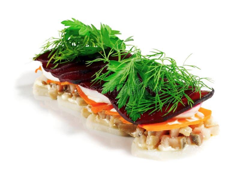 鱼沙拉 库存图片