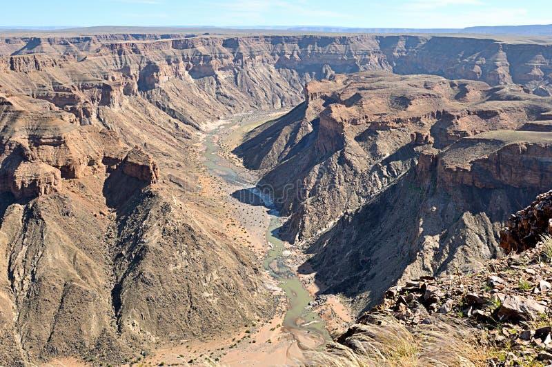 鱼河峡谷在纳米比亚 免版税库存图片