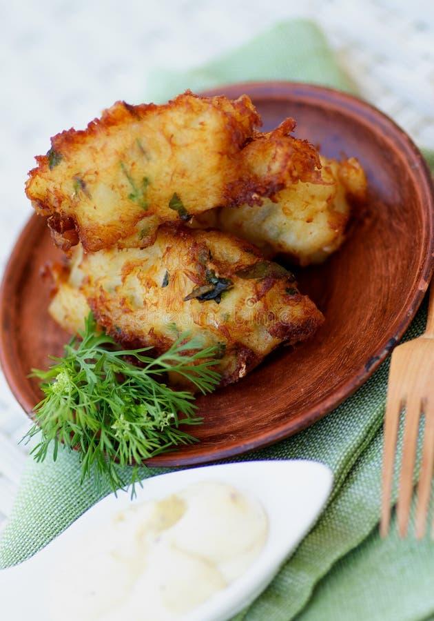鱼炸肉排 免版税库存图片