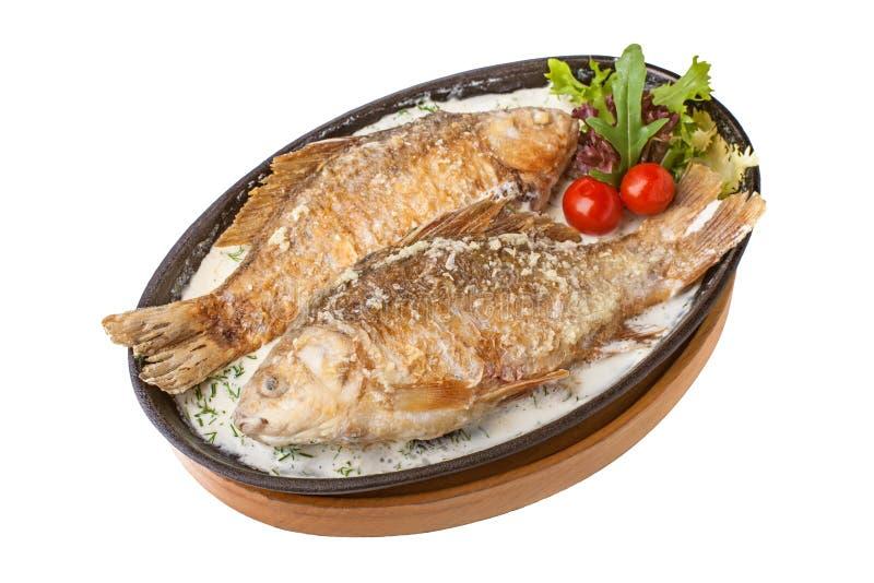 鱼烤了 免版税库存图片