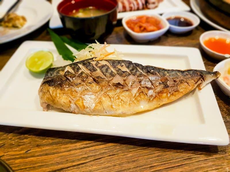 鱼烤saba 库存照片