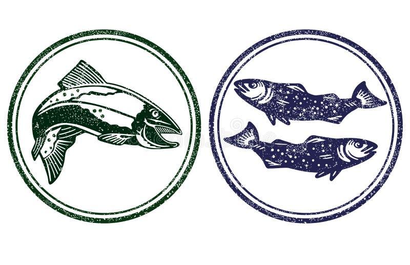 鱼符号 向量例证