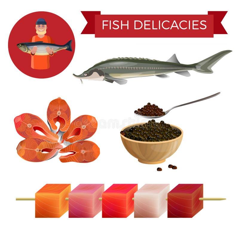 鱼纤巧集合 向量例证