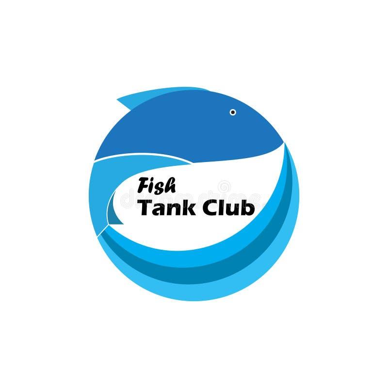 鱼缸俱乐部商标 皇族释放例证
