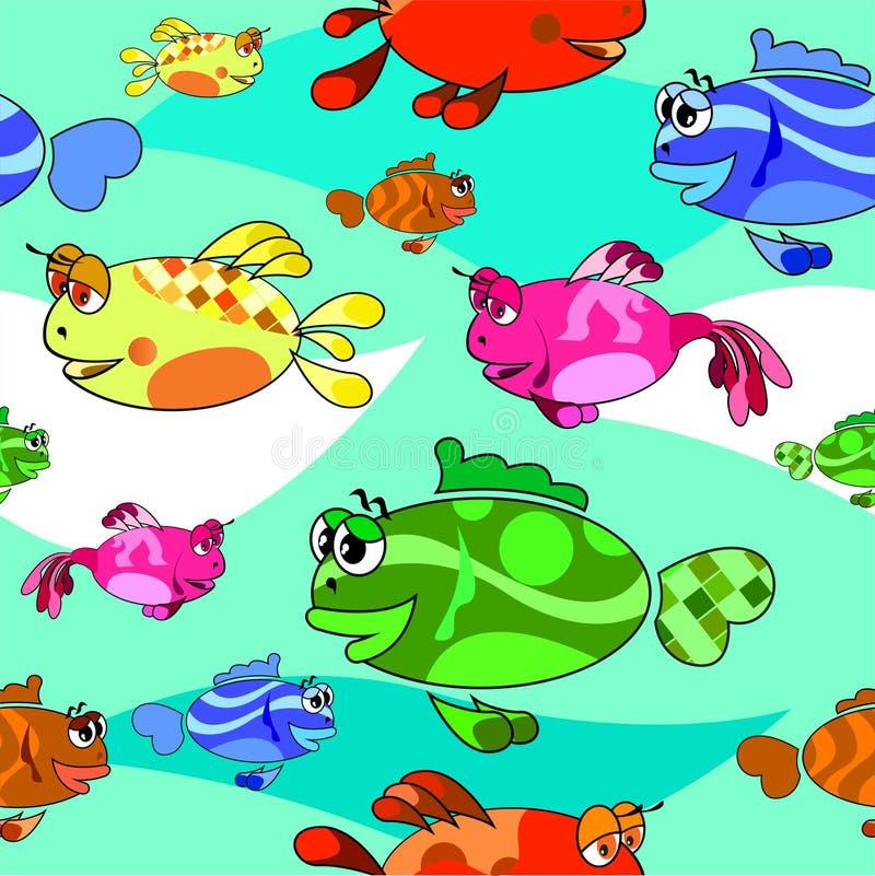 鱼背景, 向量例证