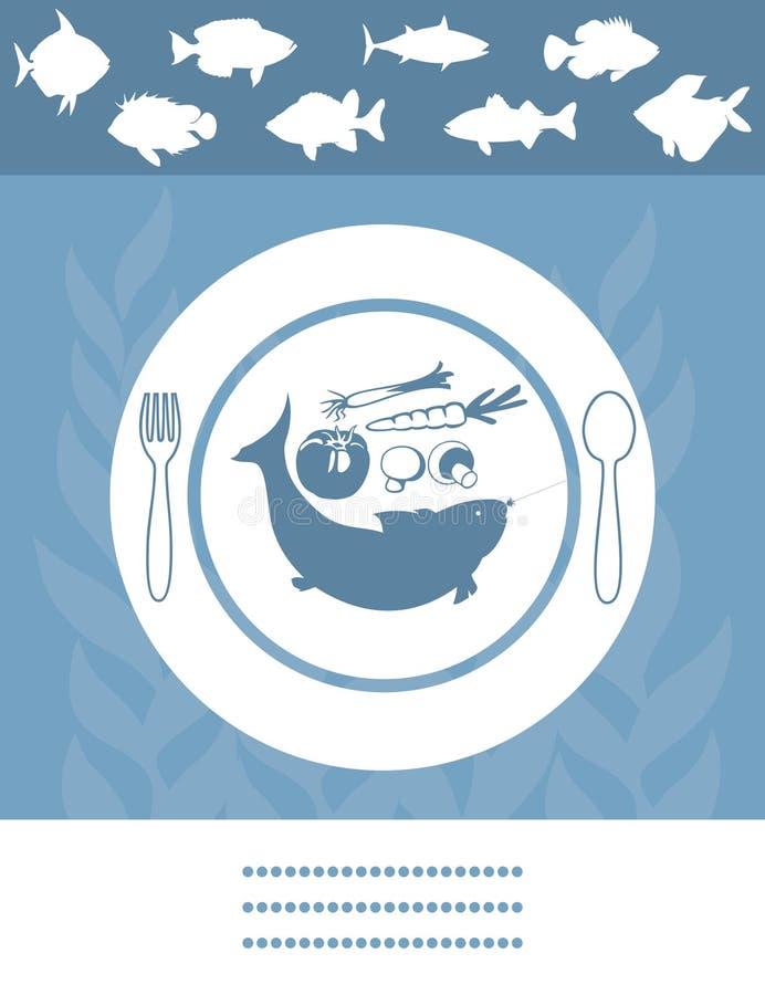 鱼菜单 向量例证