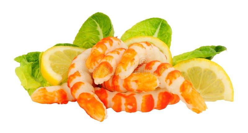 鱼蛋白Surimi大虾形状 库存照片
