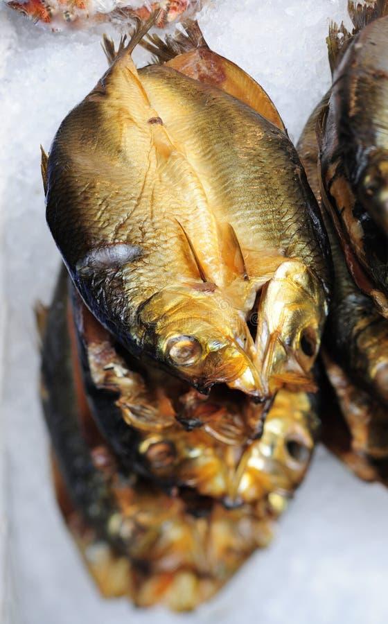 鱼贩子冰腌鱼s 免版税图库摄影