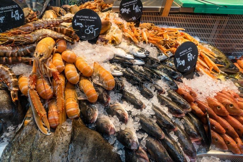 鱼贩子 库存图片