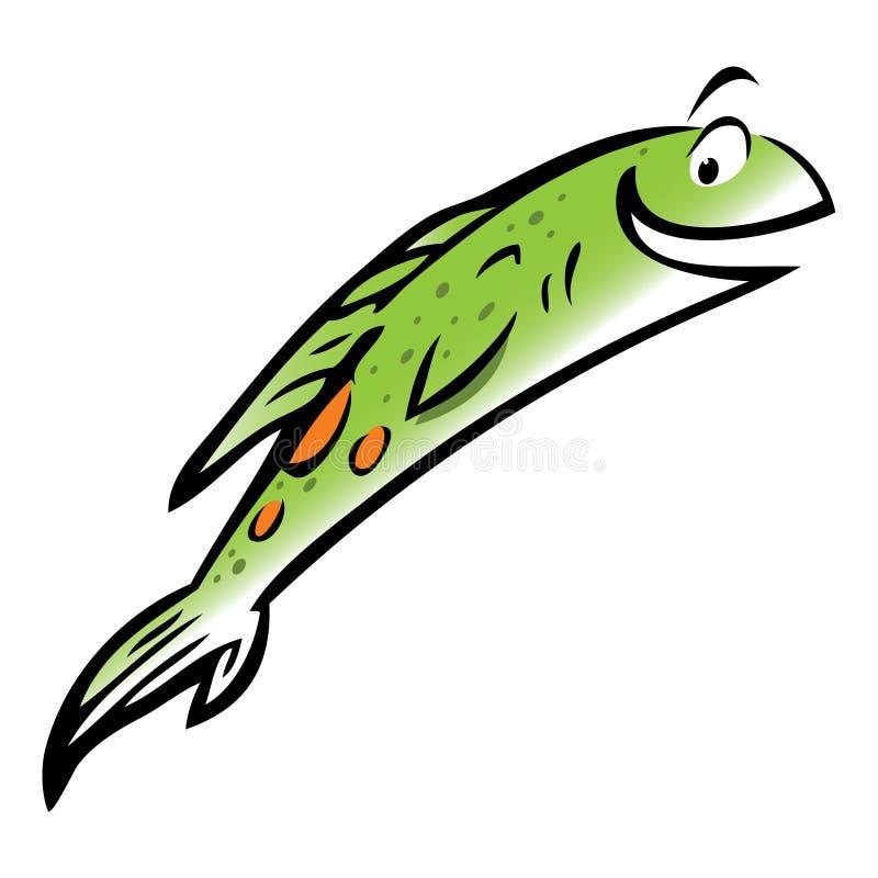 鱼跳的三文鱼 库存例证