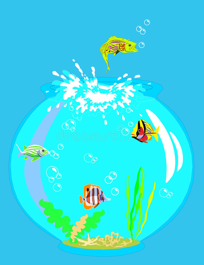 鱼跳 向量例证