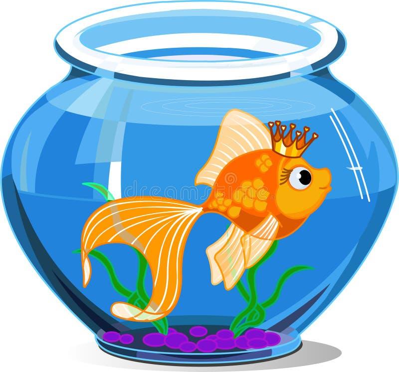 鱼金子 库存例证
