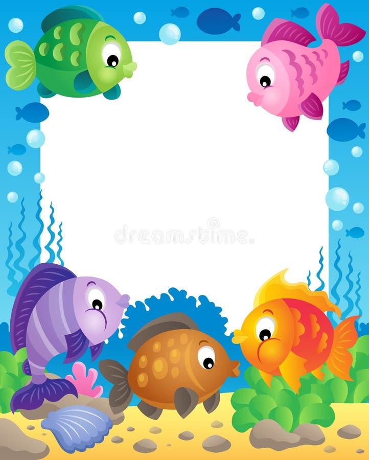 鱼题材框架1 向量例证