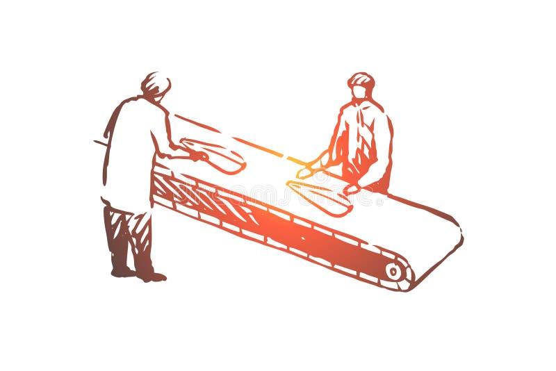 鱼,产业,生产,处理,食物概念 r 皇族释放例证