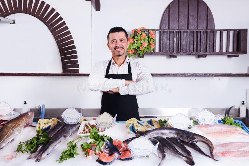 鱼贩子 图库摄影