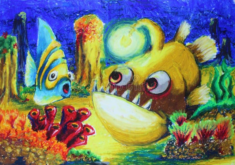 鱼画 免版税图库摄影
