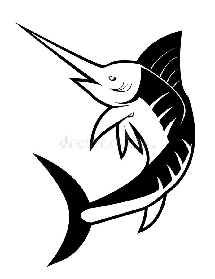 鱼细索 库存例证