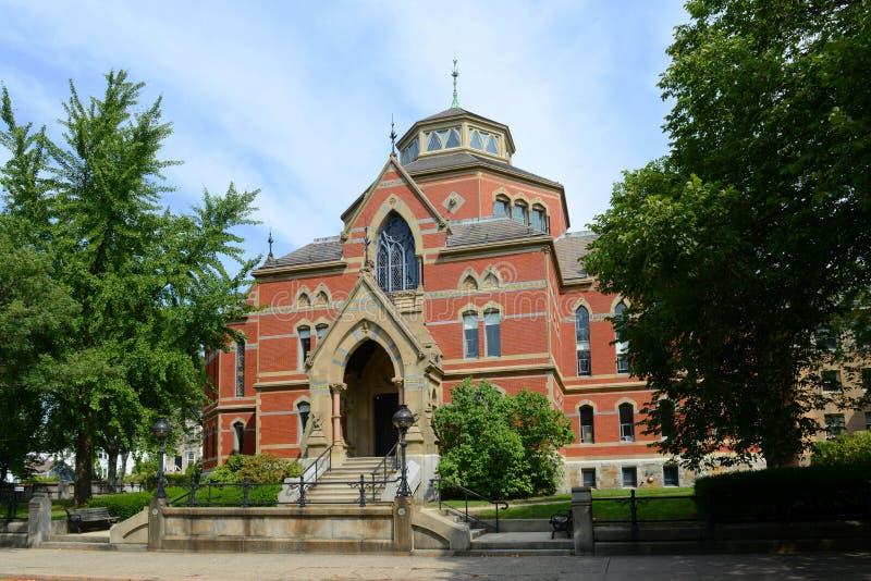 鲁宾逊霍尔,布朗大学,上帝,美国 图库摄影