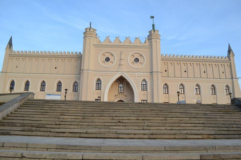 鲁布林城堡 免版税库存照片