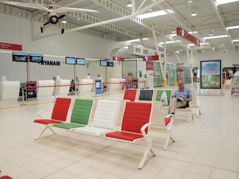 鲁布林机场,波兰 库存照片