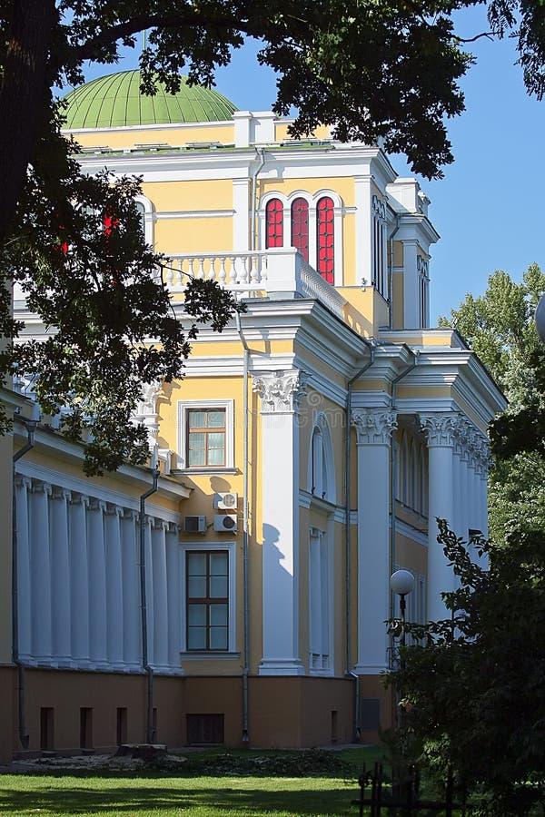 鲁缅采夫Paskevich宫殿。戈梅利,白俄罗斯。 免版税图库摄影