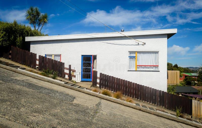 鲍德温街道,达尼丁,新西兰 免版税图库摄影