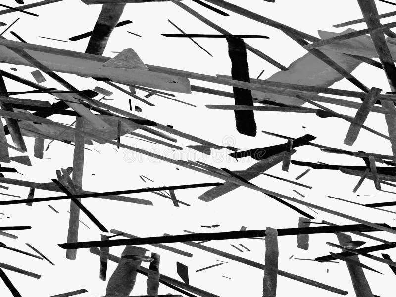 鲍豪斯建筑学派无缝的样式 库存例证