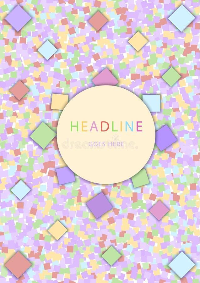 鲍豪斯建筑学派样式 包括五颜六色的几何元素的抽象传染媒介设计模板 向量例证
