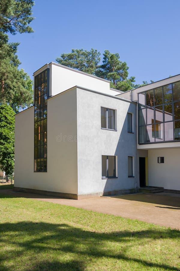 鲍豪斯建筑学派在德绍掌握议院, 库存照片