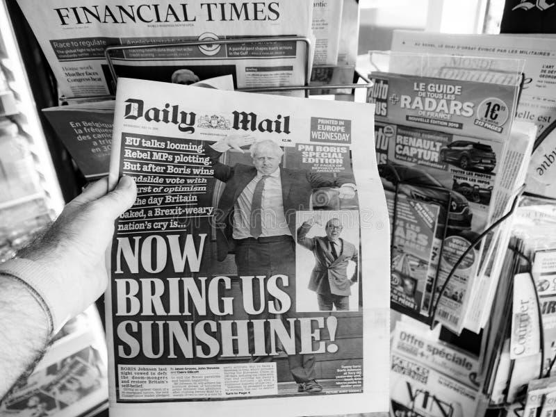 鲍里斯・约翰逊成为英国英国总理 免版税图库摄影