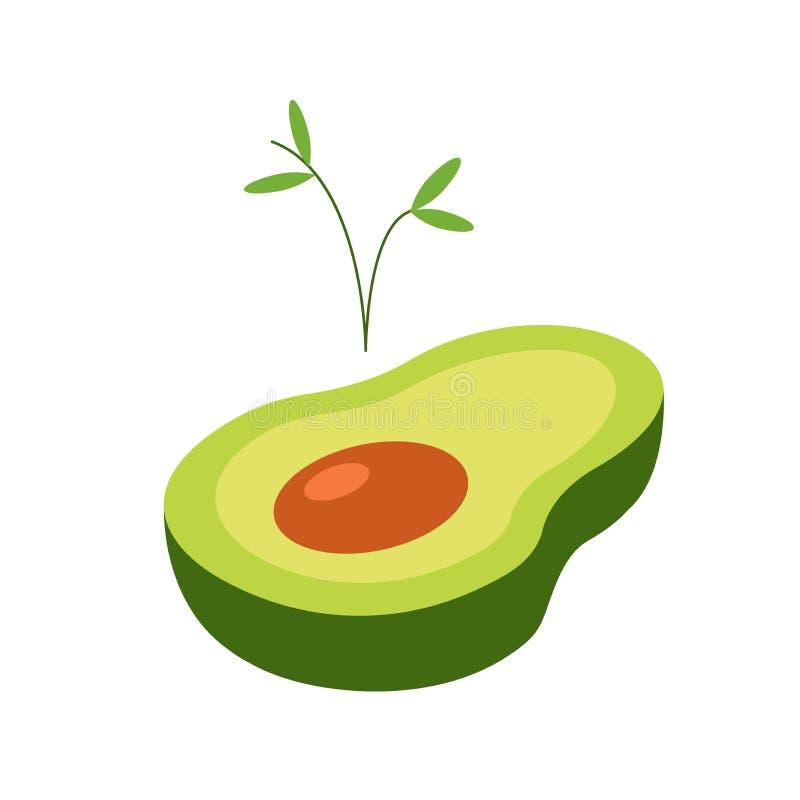 鲕梨舱内甲板 发芽植物 r ?? 生活在植物中 等量鲕梨 皇族释放例证