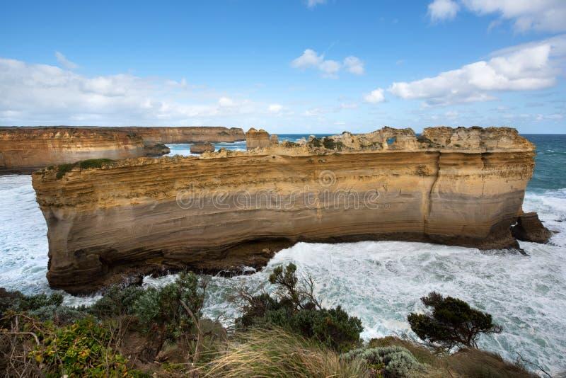 鲜明的分界线,大洋路,南维多利亚,澳大利亚 库存图片