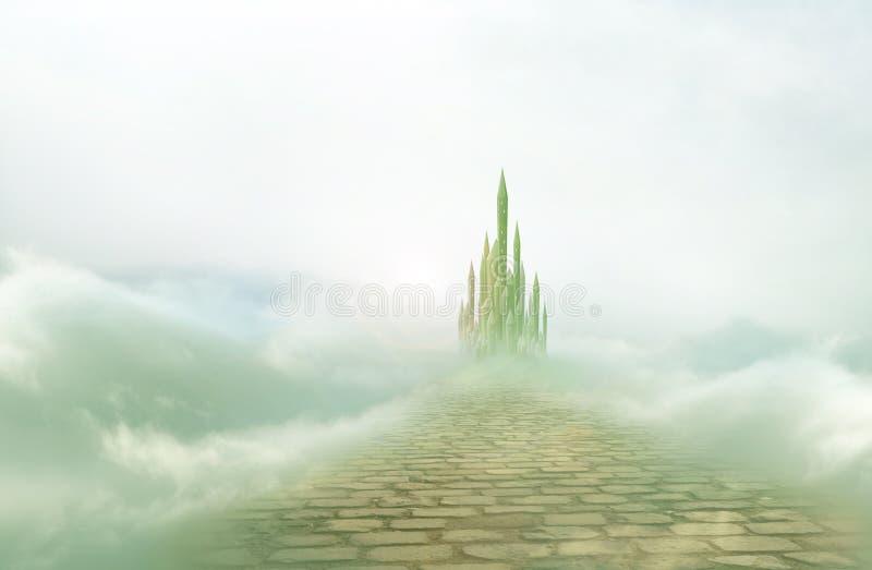鲜绿色城市3 皇族释放例证