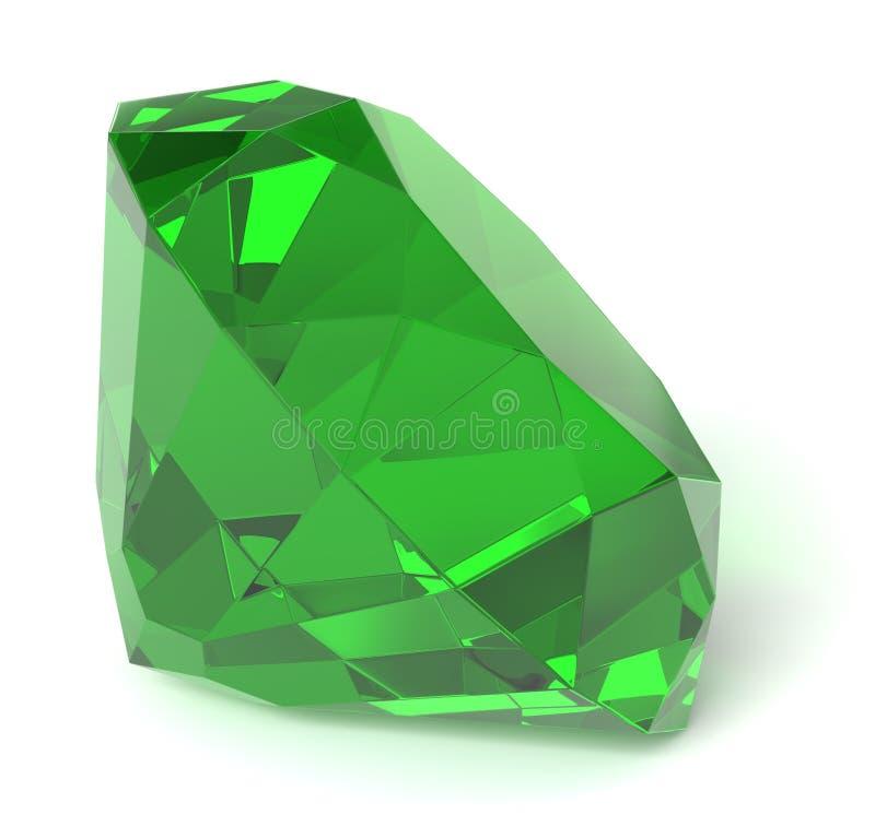 鲜绿色宝石 皇族释放例证