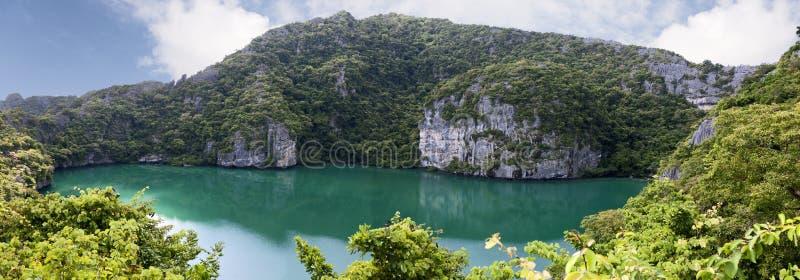 鲜绿色湖 免版税库存图片